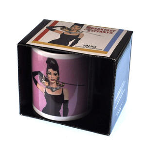Audrey Hepburn Breakfast at Tiffany's Pink Mug Thumbnail 2