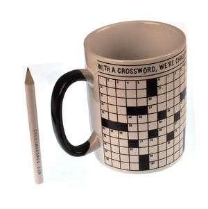 Crossword Puzzle XL Mug with Pencil Thumbnail 1