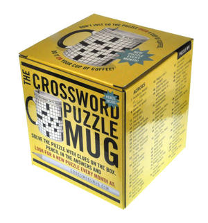 Crossword Puzzle XL Mug with Pencil Thumbnail 2
