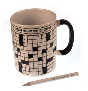 Crossword Puzzle XL Mug with Pencil Thumbnail 3