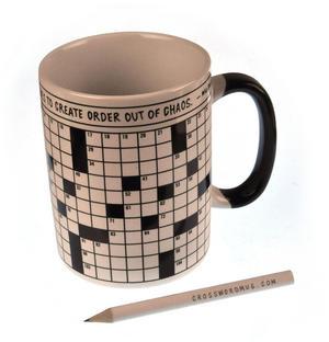 Crossword Puzzle XL Mug with Pencil Thumbnail 3