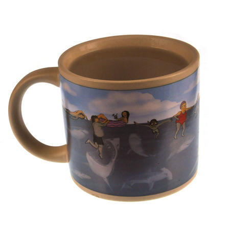 Shark Attack Beach - Heat Change Mug