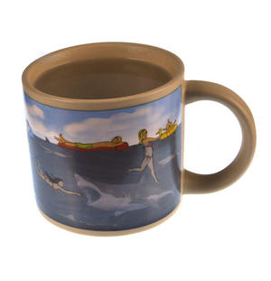 Shark Attack Beach - Heat Change Mug Thumbnail 6