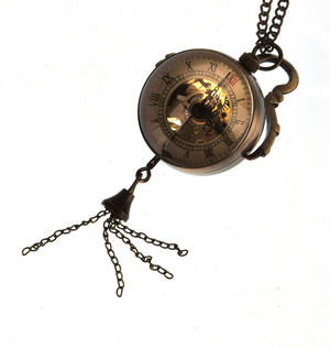 The Gulliver Maechanical Pendant Pocket Watch with See-Through Skeleton Workings and Fisheye Glass Thumbnail 2