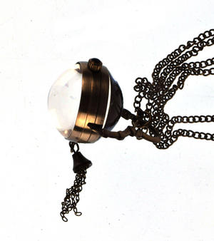 The Gulliver Maechanical Pendant Pocket Watch with See-Through Skeleton Workings and Fisheye Glass Thumbnail 5