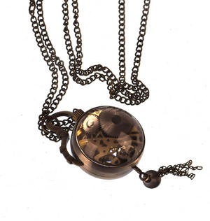 The Gulliver Maechanical Pendant Pocket Watch with See-Through Skeleton Workings and Fisheye Glass Thumbnail 6