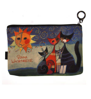 Momenti di felicita / Moments of happiness - Cat Family Mini Zipper Purse designed by Rosina Wachtmeister