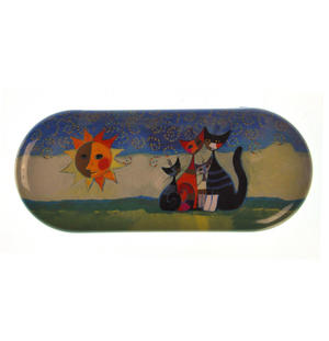 Momenti di felicita / Moments of happiness - Momenti di felicita / Moments of happiness - Cat Family  Glasses Case designed by Rosina Wachtmeister Thumbnail 1