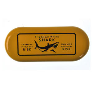 The Great White Shark  - Swimming At Your Own Risk Glasses Case Thumbnail 1