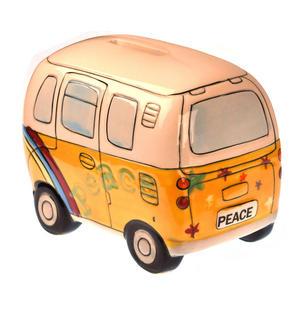 Hand-Painted Volkswagen Camper Van Money Box Thumbnail 4