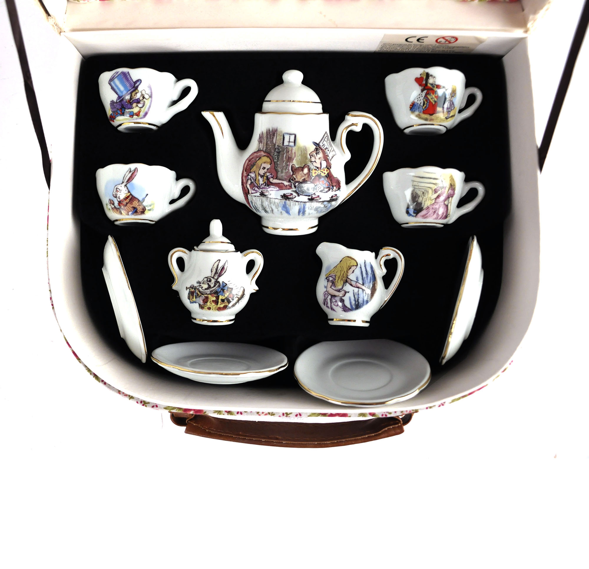 Alice in wonderland tea set-5270