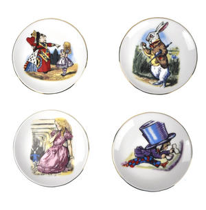Alice in Wonderland Porcelain Tea Set and Rose Basket Hamper Thumbnail 5