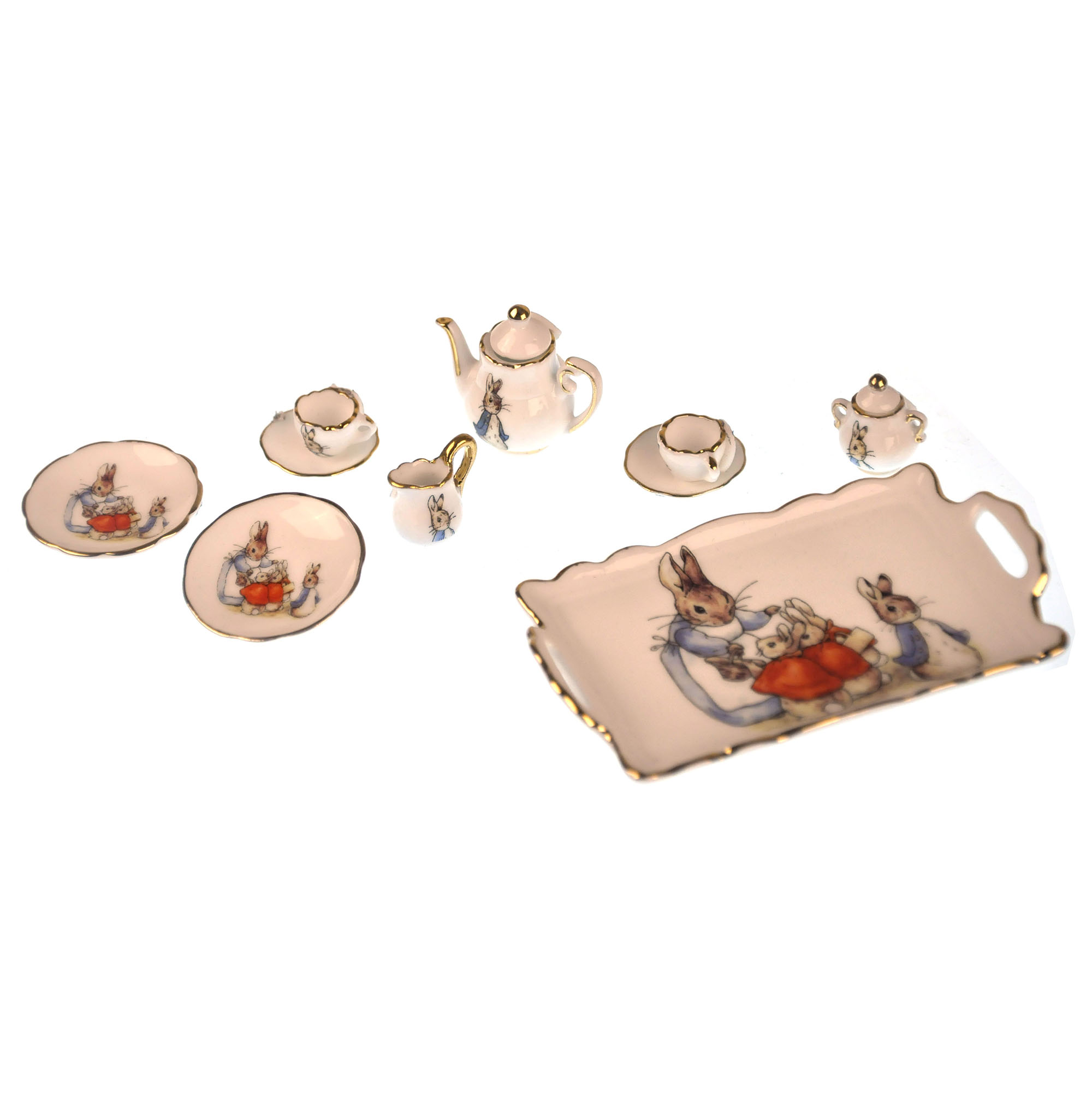 Beatrix Potter Peter Rabbit Dolls 39 House Porcelain Tea Set
