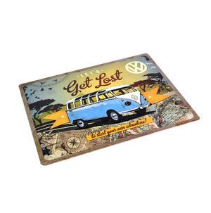Let's Get Lost VW Camper Metal Sign - Classic Volkswagen Camper Van Thumbnail 2