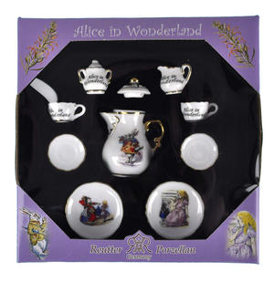 Alice in Wonderland - Dolls' House Mini Porcelain Coffee Set Thumbnail 3
