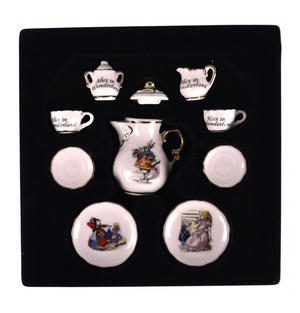 Alice in Wonderland - Dolls' House Mini Porcelain Coffee Set Thumbnail 4
