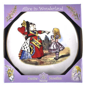 Alice and The Queen of Hearts - Alice in Wonderland Porcelain Wall Plate Thumbnail 3