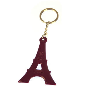 Violet Eiffel Tower Key Doll - Key Holder / Key Ring Thumbnail 1