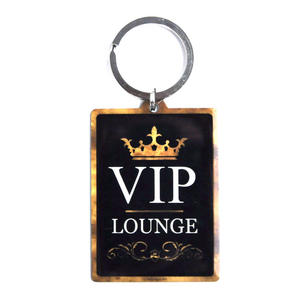 VIP / Tie Knots Guide Rectangular Metal Key Ring Thumbnail 2