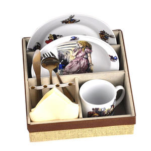 Alice In Wonderland Fine Porcelain Child's Breakfast Set Thumbnail 3