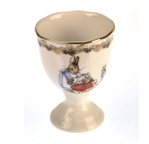 Beatrix Potter Porcelain Eggcup - Mrs Josephine Rabbit with Flopsy, Mopsy and Cotton-tail Thumbnail 1