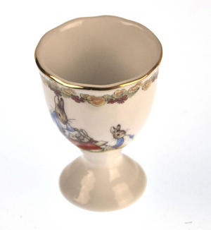 Beatrix Potter Porcelain Eggcup - Mrs Josephine Rabbit with Flopsy, Mopsy and Cotton-tail Thumbnail 2