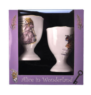 Alice in Wonderland - Two Porcelain Eggcup Set Thumbnail 2