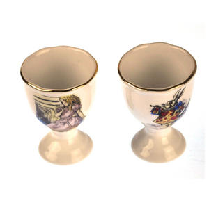 Alice in Wonderland - Two Porcelain Eggcup Set Thumbnail 3
