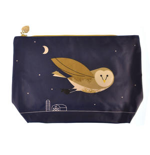 Birdy II - Bullfinch & Owl Make Up Bag / Wash Bag Set by Magpie Thumbnail 2