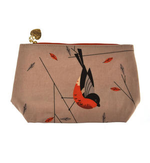 Birdy II - Bullfinch & Owl Make Up Bag / Wash Bag Set by Magpie Thumbnail 3