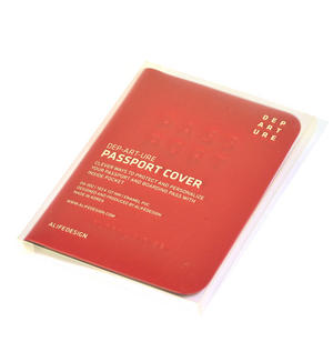 Dep-art-ure Rose PVC Passport Holder - Global Citizen by Alife Design Thumbnail 2