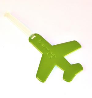 Happy Flight Green Aeroplane Doll - Luggage Identifier by Alife Design
