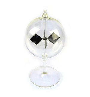 Solar Radiometer -  Replica of Crookes Radio meter Light Mill - Measures Radiant Flux of Electromagnetic Radiation Thumbnail 1