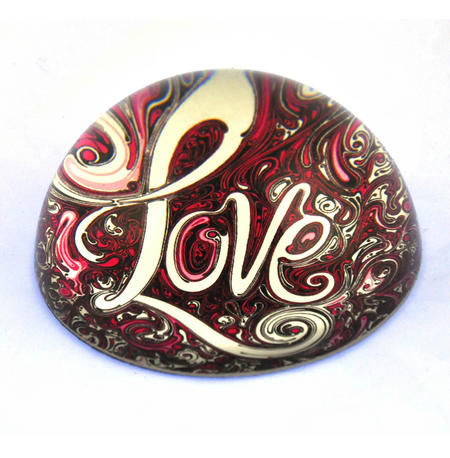 Willow Hall Paperweight - Love 8cm / 3""
