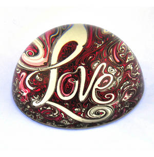 "Willow Hall Paperweight - Love 8cm / 3"" Thumbnail 1"