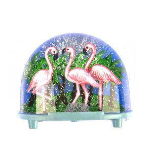 Pink Flamingos Snow Globe Thumbnail 2