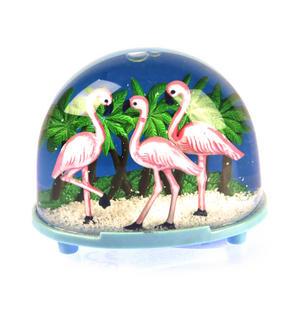 Pink Flamingos Snow Globe Thumbnail 3