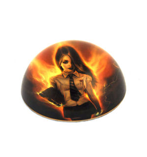 "Aly Fell Paperweight - Schoolgirl Necromancer 8cm / 3"" Thumbnail 1"