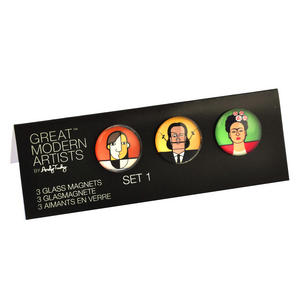 Picasso Dali Kahlo - Great Modern Artists Glass Magnet Set 1 Thumbnail 2
