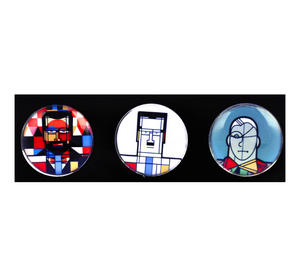 Klee Mondrian de Chirico - Great Modern Artists Glass Magnet Set 2 Thumbnail 1