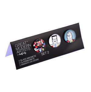 Klee Mondrian de Chirico - Great Modern Artists Glass Magnet Set 2 Thumbnail 2