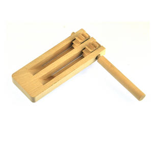 Natural Wood Rattle - Spinning Gregor Football Rattle Fun Thumbnail 2