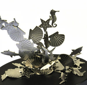 Magnetic Seahorses, Sharks & Seashells - Sealife Magnet Sculpture Thumbnail 2