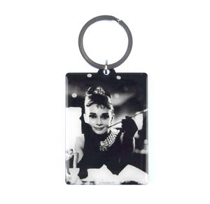 Audrey Hepburn Classic Tiffanys Metal Keyring with Movie Guide Thumbnail 1