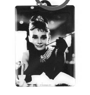 Audrey Hepburn Classic Tiffanys Metal Keyring with Movie Guide Thumbnail 3