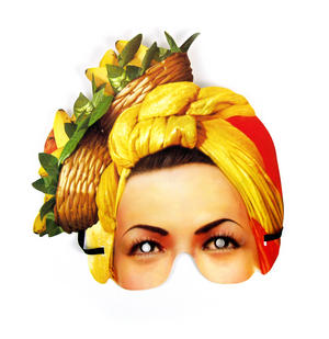 Classic Carmen Miranda Party Mask Thumbnail 1