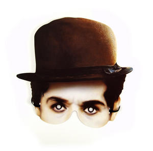 Classic Charlie Chaplin Party Mask Thumbnail 1