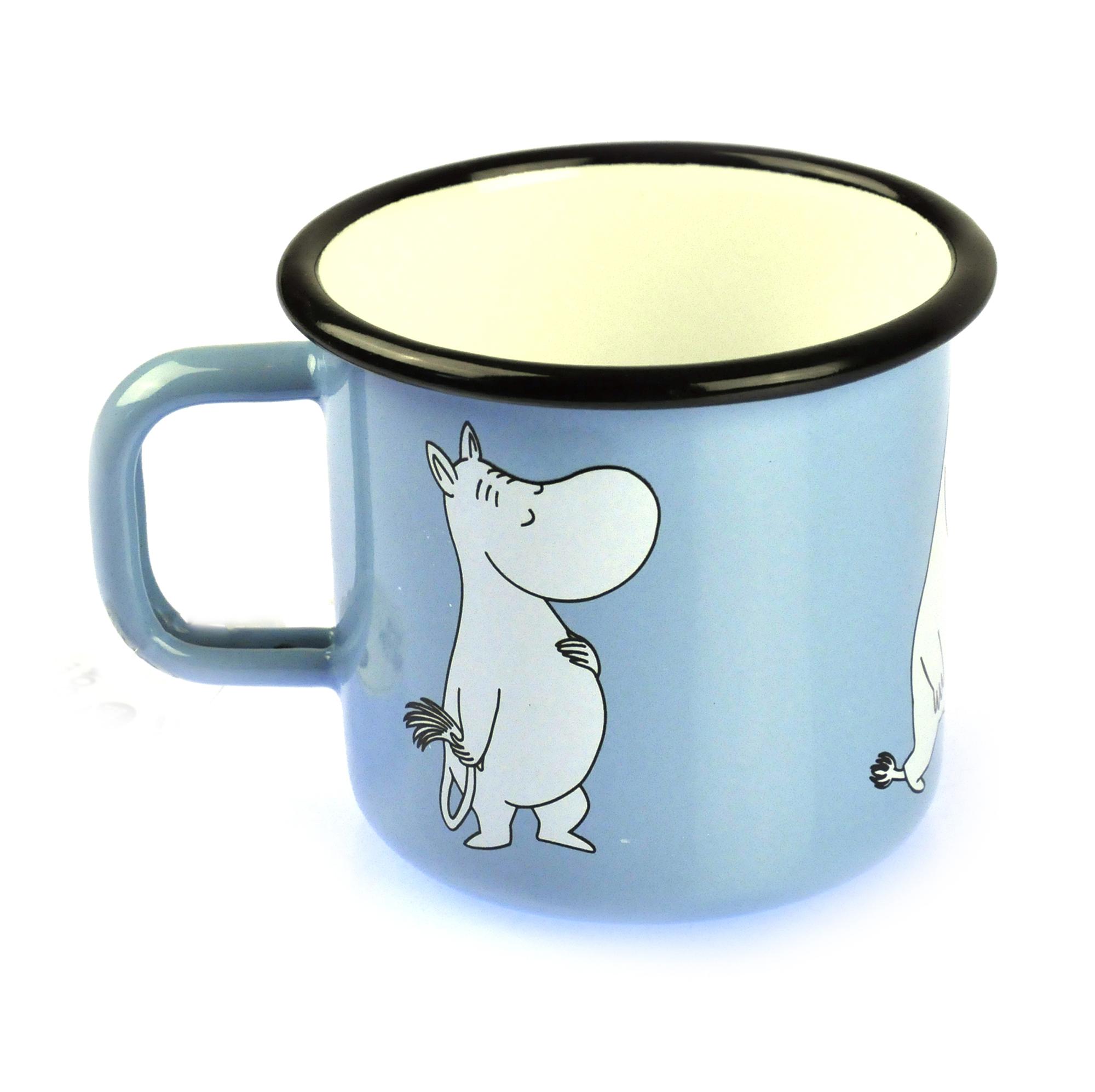 Moomin Muurla Enamel Tumbler Moomintroll on Light Blue