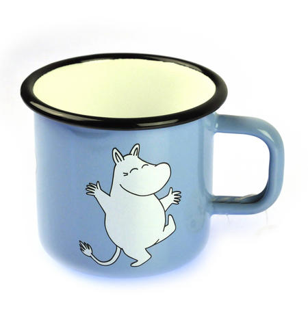Moomintroll on Light Blue - Moomin Muurla Enamel Mug - 3.7 cl