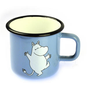 Moomintroll on Light Blue - Moomin Muurla Enamel Mug - 3.7 cl Thumbnail 1